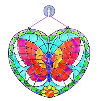 Melissa & Doug Stained Glass Made Easy Activity Kit (Arts and Crafts, Develops Problem Solving Skills, Butterfly, 140+ Stickers)