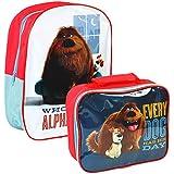 Universal® La vida secreta de mascotas oficial niños niños escuela viaje mochila mochila bolsa y juego de bolsa para el almuerzo