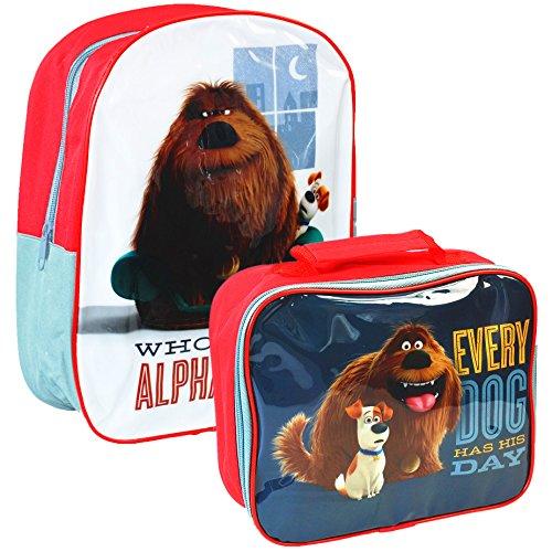 Universal® The Secret Life of Pets - Juego de mochila escolar y bolsa para almuerzo oficial de Mascotas
