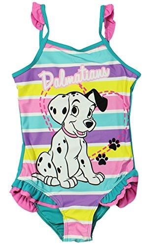 Disney 101 Dalmatiner Mädchen Bademode / Schwimmen Kostüm (2/3 Jahre (92/98 cm), Rosa) (Mädchen Dalmatiner Kostüme)