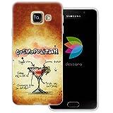 dessana Cocktail Rezepte Transparente Silikon TPU Schutzhülle 0,7mm Dünne Handy Tasche Soft Case für Samsung Galaxy A3 (2016) Cosmopolitan