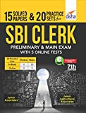 15 Solved Papers & 20 Practice Sets for SBI Clerk Preliminary & Main Exam with 5 Online Tests