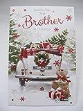 Unbekannt Fantastische farbenfrohe Nur für You Dear Brother Grußkarte Weihnachten