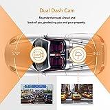 APEMAN In Car Dash Cam 1080P Full HD Dashboard Camera DVR 170° Wide Angle Lens Dashcam with Rear Camera G-Sensor Car Blackbox Car Digital Driving Recorder