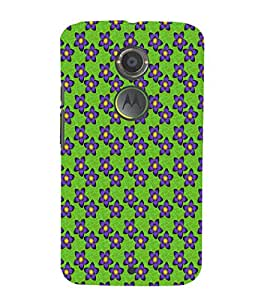 EPICCASE purple flowers Mobile Back Case Cover For Moto X 2nd Gen (Designer Case)
