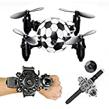 QZY DH-880 0.3MP Caméra WiFi FPV Pliable Mini Drone Football Forme Contrôleur Montre Altitude Tenir RC Drone Quadcopter,With0.3Mpcamera