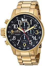 Invicta Mens Character Collection Quartz and Stainless Steel Casual Watch, Color:Gold-Toned (Model: 25009)