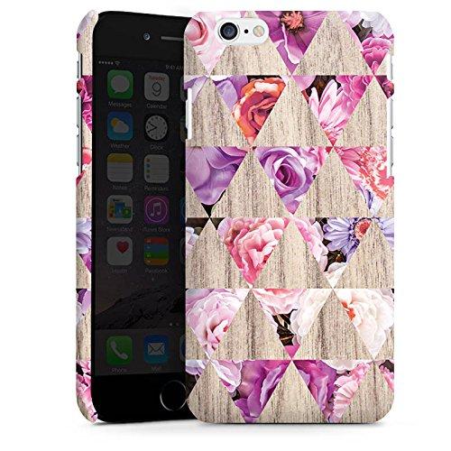 Apple iPhone X Silikon Hülle Case Schutzhülle Muster Holz Blumen holz Premium Case matt