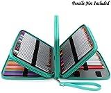BTSKY 160 Slots PU Leder mehrschichtige farbige Federmäppchen Tasche (Grün)