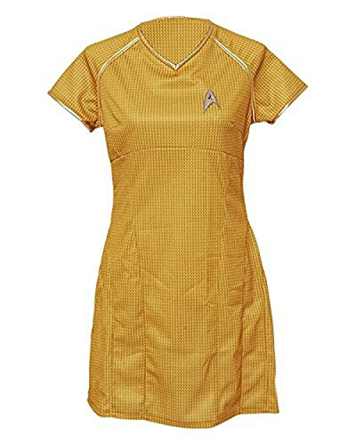 Cosdaddy /Star Trek Gold Into Darkness Marcus Uniform Dress Cosplay Costume (Star Trek Kleider)
