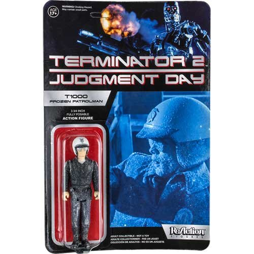 Terminator 2 ReAction Figura T-1000 Patrolman Frozen 10 cm