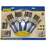 KINZO 871125279438 - Paint Brush Set - Blue / Silver