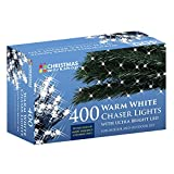 The Christmas Workshop 400 LED Chaser String Lights, Warm White