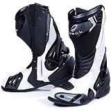 Black Venom - Motorrad-Stiefel - Racing/Sport - Weiß - EU44 (UK10)