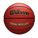 Wilson All Surface-Basketball, Asphalt, Sportparkett, Größe 5, AVENGER, Orange, WTB555XB05
