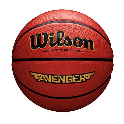 Wilson All Surface-Basketball, Asphalt, Sportparkett, Größe 7, AVENGER, Orange, WTB555XB07