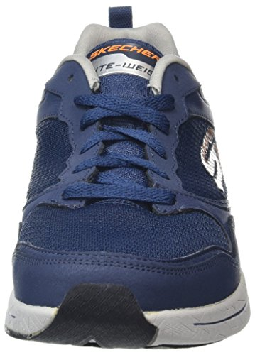 Skechers Herren Qtr Overlay Lace Up Wforwardslashair-Coo Outdoor Fitnessschuhe Blau (Nvor)