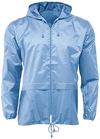 G5 Apparel Imperméable léger Unisexe - Bleu - Bleu clair - XXL