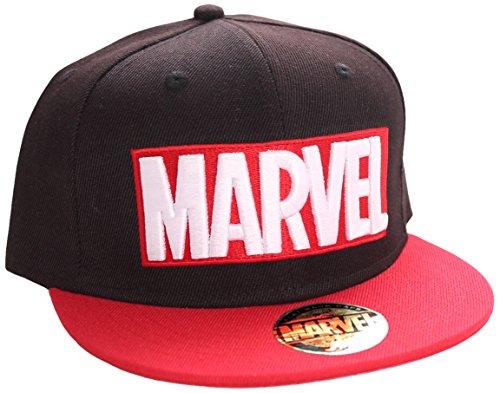 marvel-casquette-visiere-mixte-noir-taille-unique-taille-fabricant-taille-unique