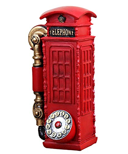 TiedRibbons® Decorative Telephone Booth showpeice for home décor and diwali gifts | home warming | decorative items for table | showpiece on table | christmas decoration items