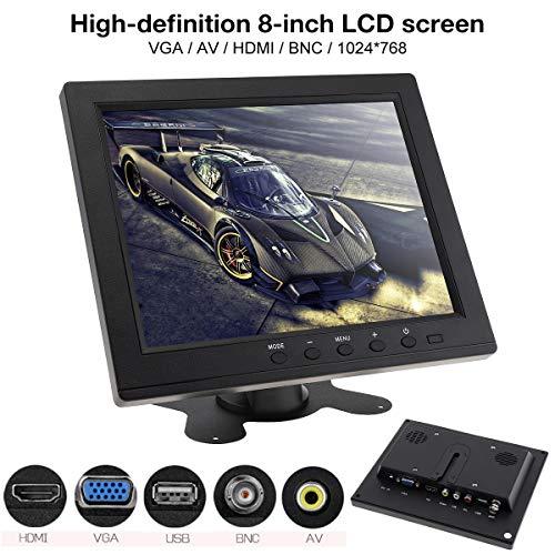 Monitor LED 8 Pulgadas Monitor Color HD TFT-LCD Mini