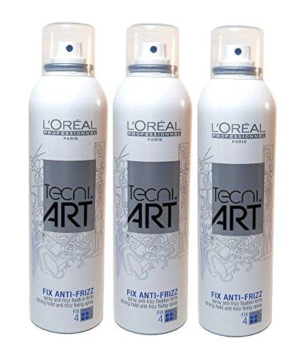 Loreal Fix Anti-Frizz 3 x 250 ml starker Halt Tecni.art Styling Haarspray Neue Serie -