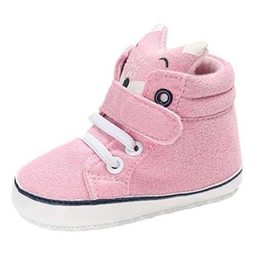 Babyschuhe,Sannysis Baby Mädchen Jungen Fox High Cut Schuhe Sneaker rutschfeste weiche Sohle Kleinkind 6-18Monat (12, Rosa)