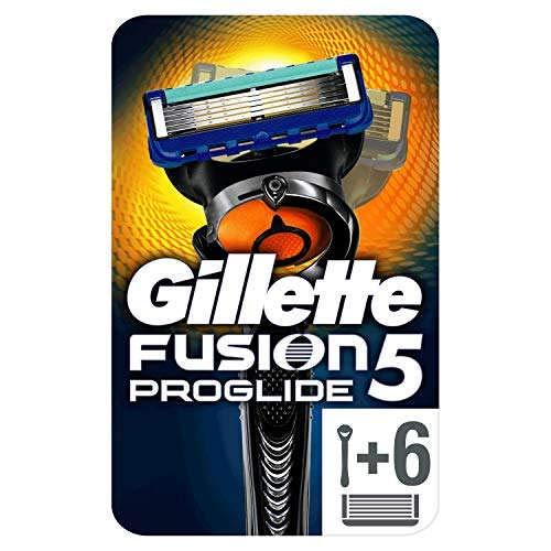 Gillette Fusion5 ProGlide - Maquinilla Afeitar 6 Recambios