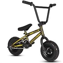 Bicicleta mini BMX Venom 2018 Pro – Color oro y crudo., dorado