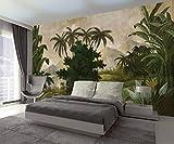 Yosot Custom Tapete Vintage Europäischen Hand Gezeichneten Mittelalterlichen Regenwald Banane Wandbild Tv-Couch Hintergrund Wall 3D Tapete-400Cmx280Cm