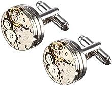 BABAN 2pcs Gemelo Gemini Para Mecanismo de relojería camisa de Comercio regalo ideal (con un hermoso cuadro)