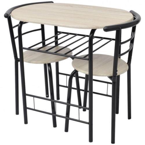 Küche Frühstück Bar Tisch und 2Stühle Wohnzimmern Set Compact Kleine Räume (Pub-tische Und Stühle-sets)