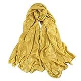 UNIQUE Super Doux Lisse Soie Or Echarpe Châle Foulard Etole Chèche Pashmina Paréos Cache-maillots sarongs Robe De Plage Femme Brillant