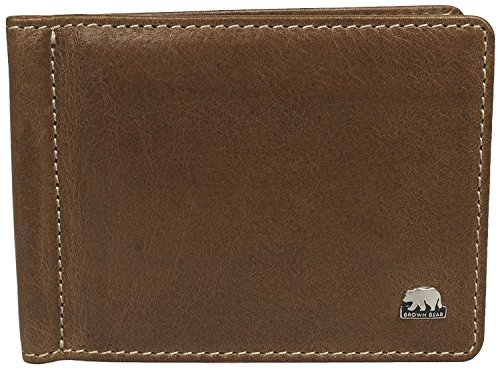 Brown Bear Dollarclip Geldbörse Herren Leder vintage braun Country 5