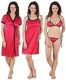 Fasense Women's Nightdress (DP100A2_Large_Wine)