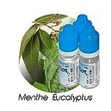 MA POTION - Lot de 3 E-Liquide Menthe Eucalyptus, Eliquide Français Ma Potion, recharge liquide cigarette électronique Sans nicotine ni t