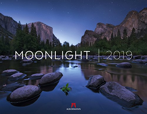 Moonlight 2019, Wandkalender im Querformat (54x42 cm) - Inspirationskalender / Landschaftskalender mit Nachtaufnahmen mit Monatskalendarium