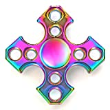 Fidget Spinner Jouet Tri Fidget Hand Spinner Stress Reducer High Speed Ceramic Bearing Fidget Toy pour Adultes Enfant (A04)