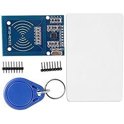 Neuftech® Lecteur RFID carte capteur d'induction CRFM-522 RC522 Module RFID IC avec la chaîne de clé de carte de S50 libre