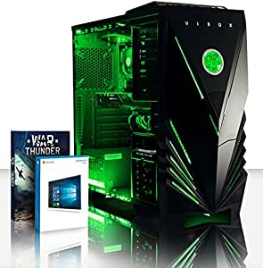 VIBOX Gaming PC - Apache 19 - 4.1GHz AMD FX 6-Core CPU, GT 730 GPU, Budget, Family, Multimedia, Home & Office, Desktop Computer with Game Bundle, Windows 10 OS, Green Internal Lighting and Lifetime Warranty* (Super Fast AMD FX 6300 Six 6-Core CPU Processor, Nvidia GeForce GT 730 2GB Dedicated Graphics Card GPU, 8GB DDR3 1600MHz High Speed RAM Memory, 1TB (1000GB) Seagate SSHD Solid State Hybrid SSD-Hard Drive, 85+ Rated PSU Power Supply, Vibox Predator Green LED Gaming Case, AM3+ Motherboard)