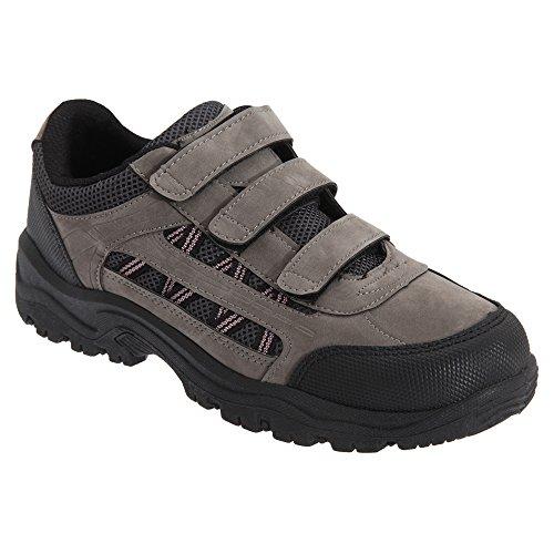 Dek Damen Kendal Trekking-Schuhe mit Klettverschluss Grau/Schwarz