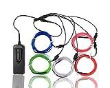 PsmGoods 5 X 1 Metri cinque colori luminosi elettroluminescente filo (El Wire)