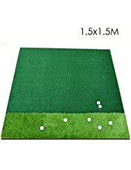 WENZHE Alfombra De Práctica Golf Putting Estera Hierba Doble Área De Manejo Dedicado, 1.5 * 1.5 M