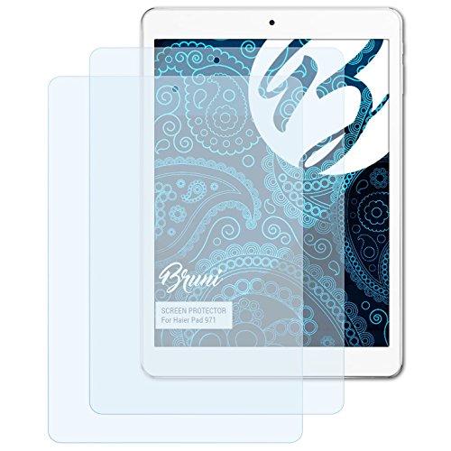 Bruni Schutzfolie kompatibel mit Haier Pad 971 Folie, glasklare Bildschirmschutzfolie (2X)