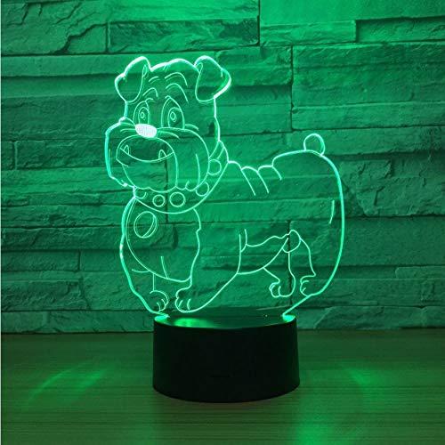 3D Nachtlichter Nette Hund 3D Led Lampe Nachtlicht Multi Farben Rgbw Lampe Dekorative Luminaria Geburtstagsgeschenk Für Freunde Kinder Schnelle - Licht Net Multi-grünes Kabel
