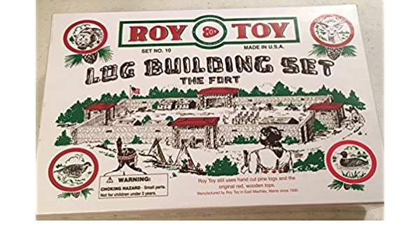 Roy Toy Log Building Set The Fort Number 10 RTMBF