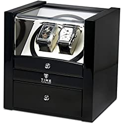 Time Tutelary Dual Watch Winder (Black Piano Gloss) No' 018