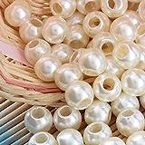 Angel Malone 10x 12mm Perles Grand Trou Perles Ivoire, en cuir Kumihimo européenne Artisanat