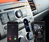 Bluetooth Music Receiver Portable Freisprecheinrichtung AUX Wireless Audio Adapter Audiogeräte für KFZ Auto Lautsprechersystem mit Stereo 3.5 mm Aux Input Jack - 2