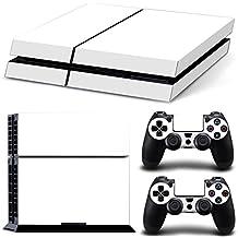 Morbuy Ps4 Skin Consola Design Foils Vinyl Pegatina Sticker And 2 Playstation 4 Dualshock Controlador Skins Set (Blanco)